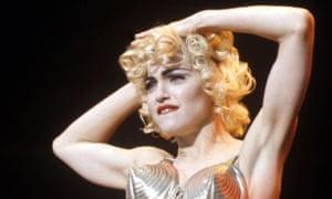 Madonna on tour circa Blonde Ambition in 1990