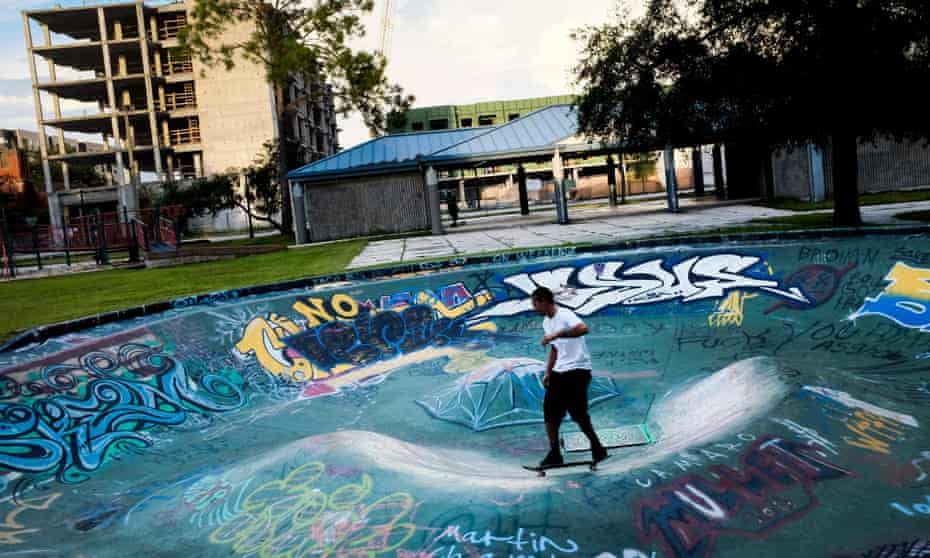 A skater at the the Bro Bowl in Tampa.
