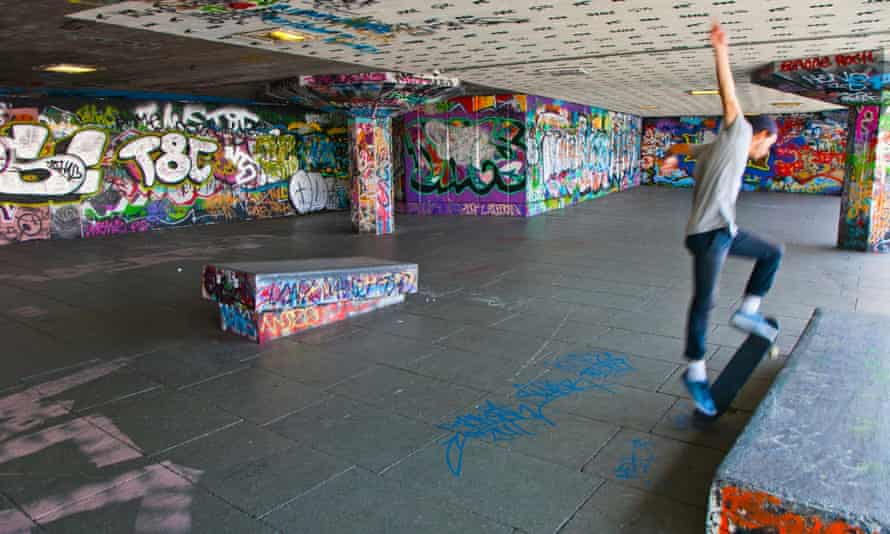 The undercroft skating area at London's Southbank Centre, saved from redevelopment.