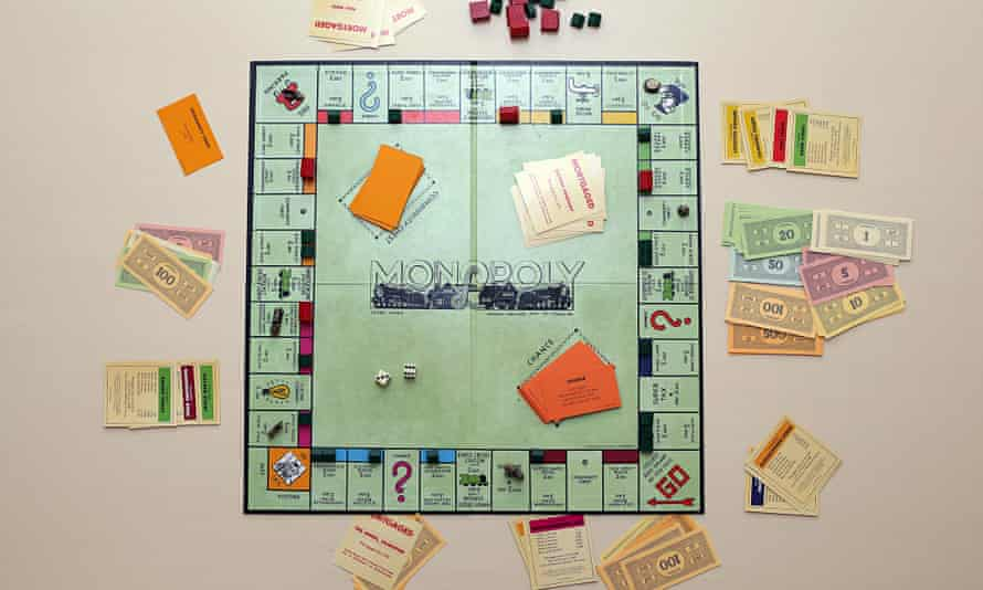 English edition of the Monopoly Board Game.