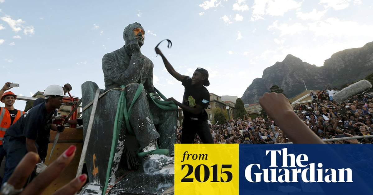 Cheers And Protests As University Of Cape Town Removes Cecil Rhodes Statue World News The Guardian