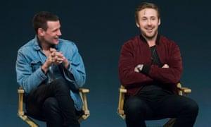 Matt Smith and Ryan Gosling at the Apple store, London, 8 April.
