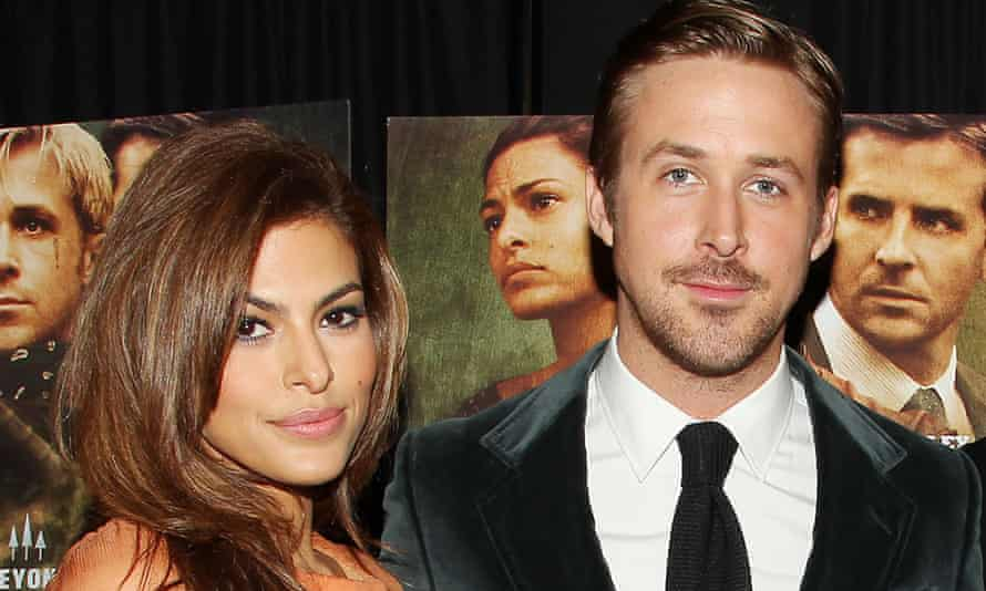 Gosling with his partner, Eva Mendes, March 2013.