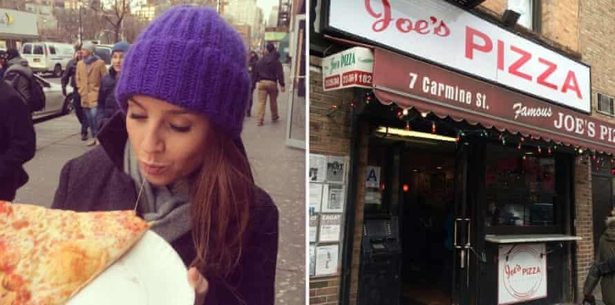 Hannah Summers at Joe's Pizza, New York