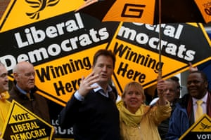 Nick Clegg with the Lib Dem MP for Solihull, Lorely Burt.