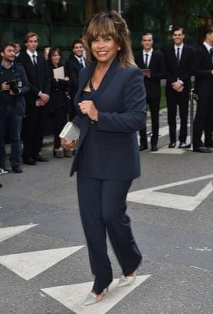 Tina Turner at the Giorgio Armani's 40th Anniversary  reception.