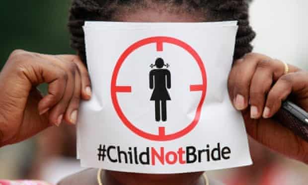 Protests against underage marriage in Lagos, Nigeria, in 2013.