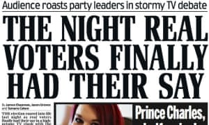 The Daily Mail's verdict on the Question Time leaders' debate