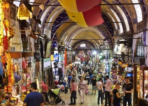 Istanbul's Grand Bazaar attracts up to half a million visitors a day.