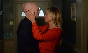 Max and Karin getting close. Jake Wood and Denise Van Outen.