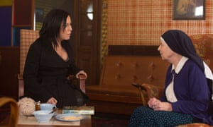 Kat talks to Sister Ruth.