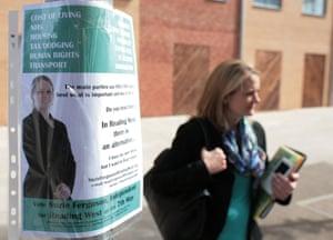 Suzie Ferguson campaigning.