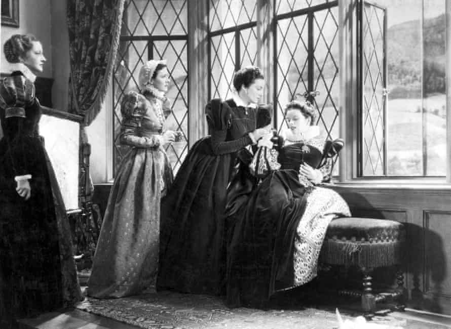 Katharine Hepburn, right, as the queen.