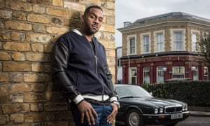 Vincent Hubbard hanging in the Square…Richard Blackwood.
