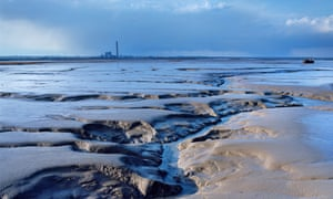 Estuary aura … mudflats in Kent's river Medway, known as oozes