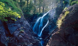 Enchanting cascade … Rhaeadr Ddu, Dolgellau, Wales.