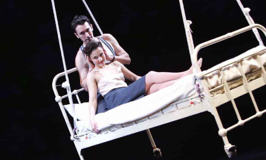 Tristan Sturrock (Peter) and Lyndsey Marshal (June) in Kneehigh's A Matter of Life and Death at the National Theatre in 2007.