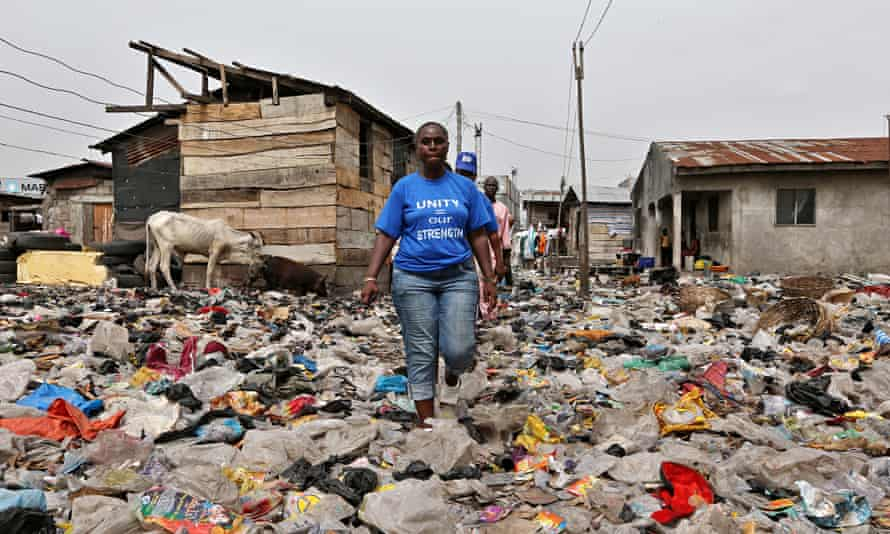 Bimbo Omowole Osobe, a former resident of the Badia East slum in Lagos, Nigeria, who was evicted las