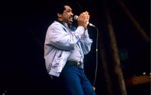 Ben E. King at the Glastonbury Music Festival in 1987
