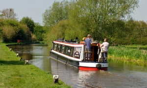 A narrowboat on British waterways.