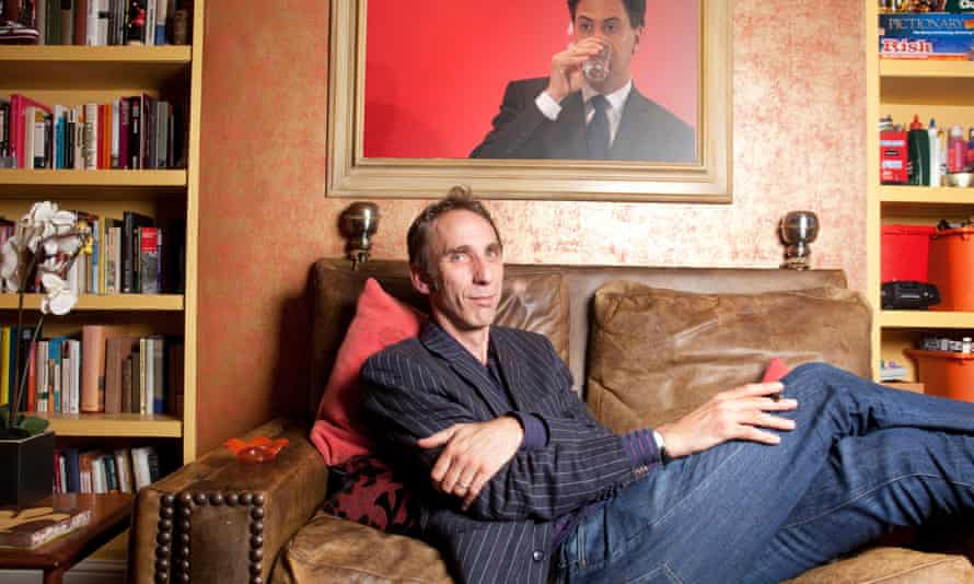 Photomontage of Will Self and Ed Miliband