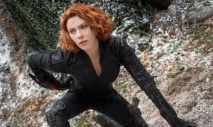 Scarlett Johansson as Black Widow in Avengers