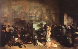 Gustave Courbet's The Painter's Studio (L'Atelier du peintre): A Real Allegory of a Seven Year Phase in my Artistic and Moral Life (1855).