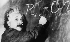 Apparently this riddle was devised by Einstein as a boy. And no, that's not the answer on the board.