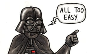 how to draw darth vader mask easy