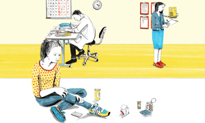 illustration for children's mental health services piece may 2