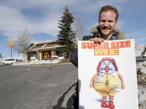 "Morgan Spurlock, director of ""Super Size Me"" (2004). The film maker ate only McDonald's food for 30 days."
