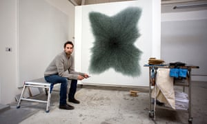 Idris Khan in his London studio