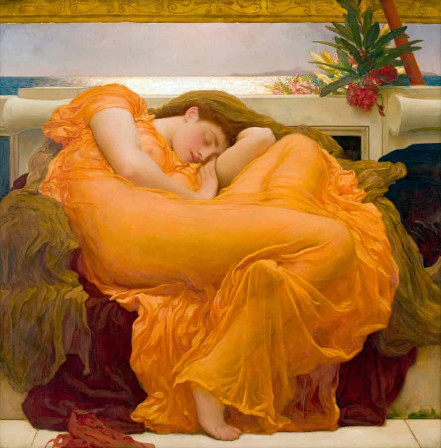 Sir Frederic Leighton's 1895 painting Flaming June.