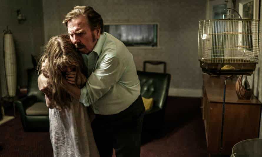 Eleanor Worthington-Cox as Janet and Timothy Spall as Maurice Grosse in The Enfield Haunting.