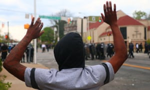 Protester in Baltimore