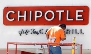 Chipotle restaurant under construction in California.