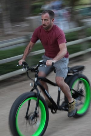 An e-bike in action.