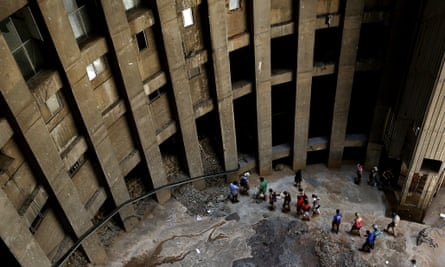 Visitors get a tour inside the 54-storey Ponte tower earlier this year.