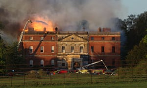 Fire at Clandon Park House