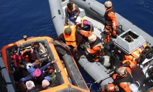 German defence forces rescue migrants