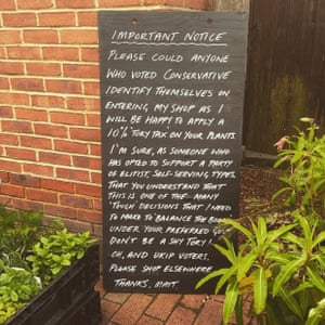 The sign in Woodruffs Yard