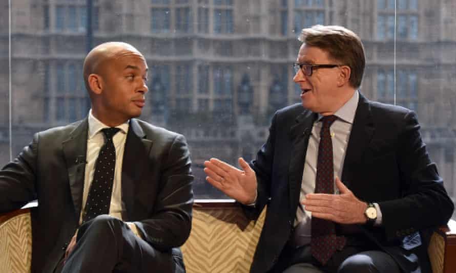 Chuka Umunna and Peter Mandelson