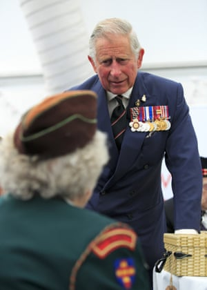 Prince Charles attends an afternoon tea reception in honour of the veterans in St James's Park