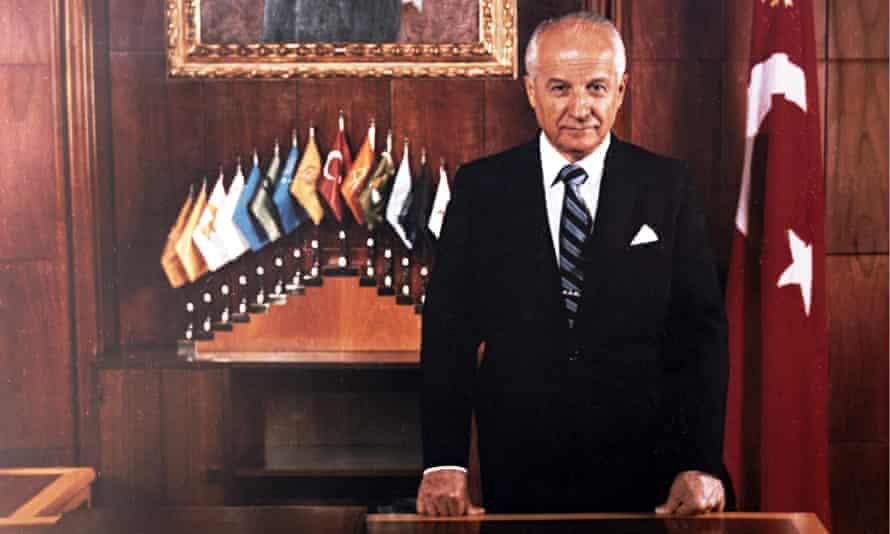 Kenan Evren in his presidential office in 1982.