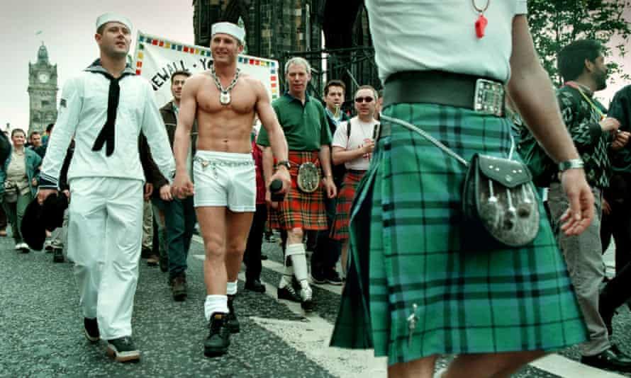 Gay pride march Edinburgh