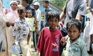 Ethnic Rohingya children