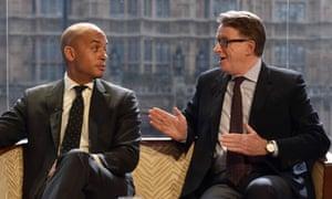Chuka Umunna and Lord Mandelson