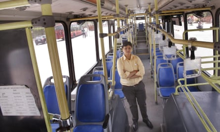 Saritha Vankadarath is the The first woman driver inducted in the Delhi transport corporation.