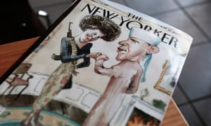 The cover of the July 21 2008 New Yorker magazine.