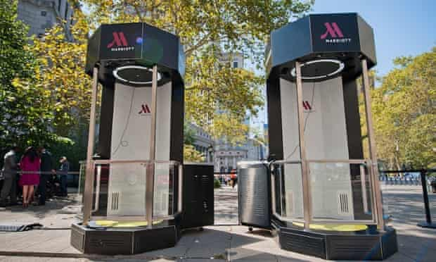 Marriot Hotels' virtual reality teleporter campaign